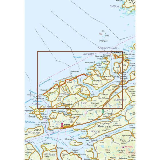 Dekningsområdet Atlanterhavsveien kartet