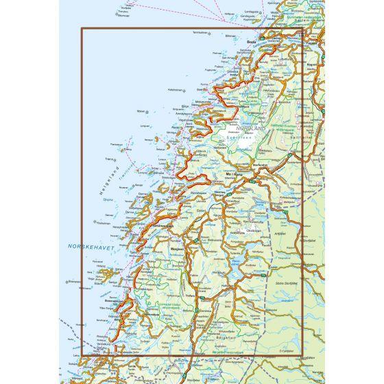 Kartenabdeckung fürt Helgelandskysten karte