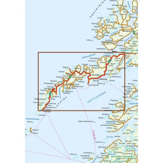 Map area for Lofoten  map