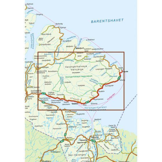 Map area for Varanger  map