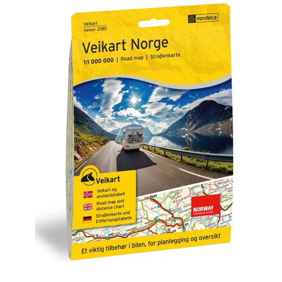 Cover image for Road map Norge 1:1 000 000 map