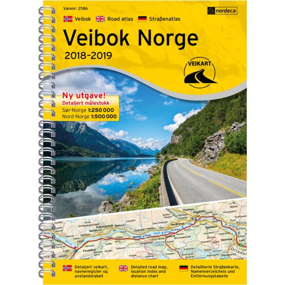Cover image for Road atlas Norge 1:250 000/1:500 000 map