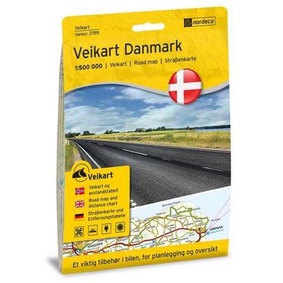 Produktbild für Straßenkarte Danmark 1:500 000 Karte