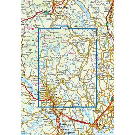 Dekningsområdet Skrim Vindfjell 1:50 000 kartet