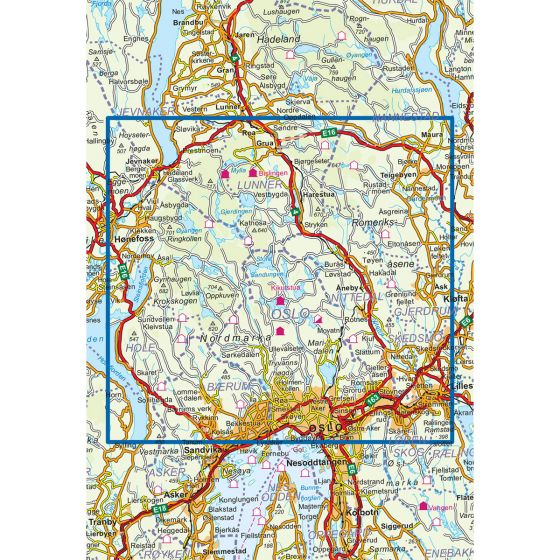Map area for Oslo Nordmark Vinter 1:50 000  map