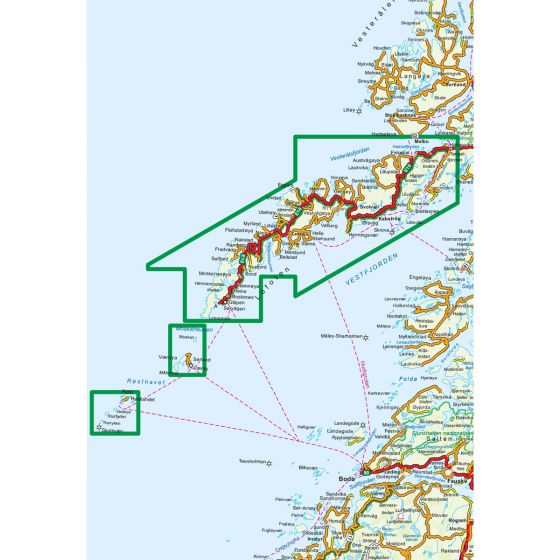 Map area for Lofoten 1:100 000  map