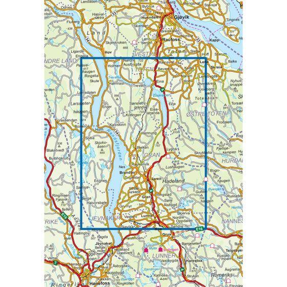 Kartenabdeckung fürt Lygna 1:50 000 karte