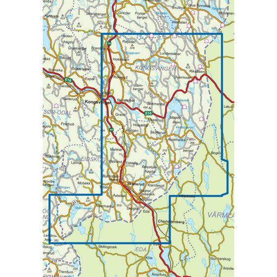 Kartenabdeckung fürt Finnskogen Sør 1:50 000 karte