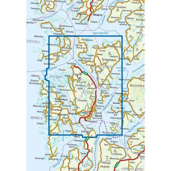 Kartenabdeckung fürt Stord Fitjar 1:50 000 karte