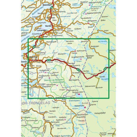 Dekningsområdet Sylan Nord 1:100 000 kartet