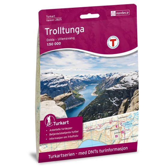 Forside av Trolltunga, Odda - Ullensvang 1:50 000 kart