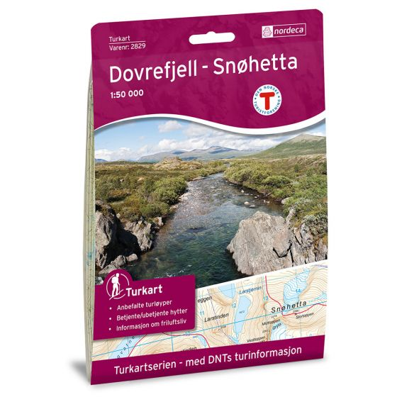 Cover image for Dovrefjell Snøhetta 1:50 000 map
