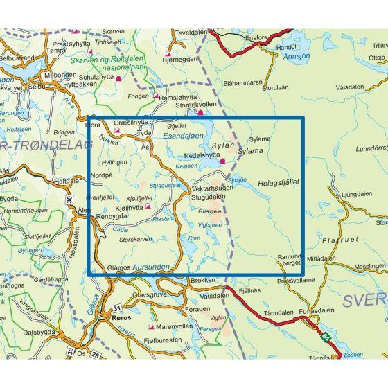 Sylan sør Topo 3000 Hiking map