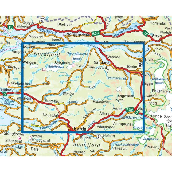 Sunnfjord Topo 3000 Hiking map