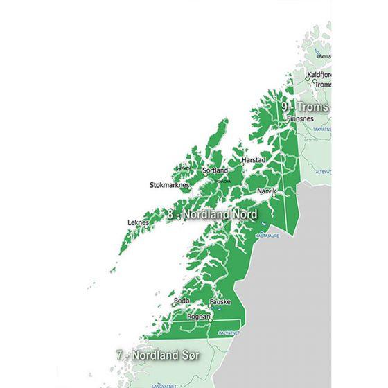 Garmin GPS kart Nordland Nord region 8