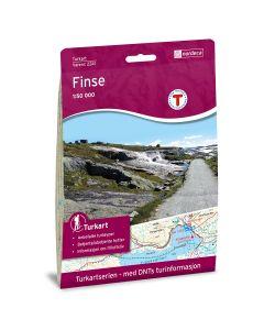 Forside av Finse 1:50 000 kart