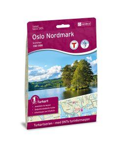 Forside av Oslo Nordmark Sommer DNT Turkart i plast kart