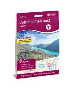 Forside av Jotunheimen Aust 1:50 000 kart