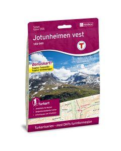 Forside av Jotunheimen Vest 1:50 000 kart