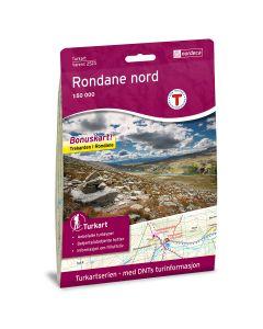 Forside av Rondane Nord 1:50 000 kart