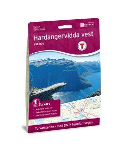 Forside av Hardangervidda Vest 1:50 000 kart