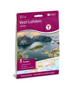 Forside av Vest-Lofoten 1:50 000 kart