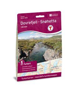 Forside av Dovrefjell Snøhetta 1:50 000 kart