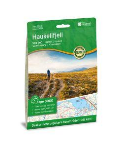 Forside av Haukelifjell 1:50 000 kart