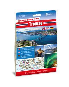 Forside av Tromsø 1:250 000 kart