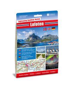 Forside av Lofoten 1:250 000 kart