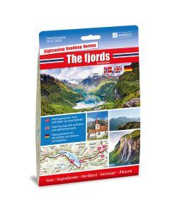 Forside av The fjords / Vestlandet 1:250 000 kart