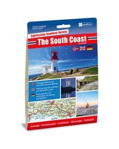 Forside av The South Coast  / Sørlandet 1:250 000 kart