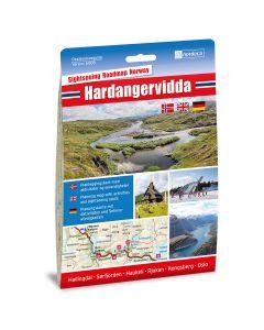 Forside av Hardangervidda 1:250 000 kart