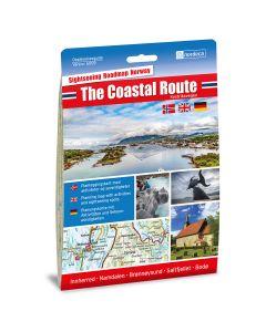 Forside av The Coastal Route / Kystriksvegen 1:250 000 kart