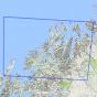 Kartenabdeckung fürt Tromsø 1:250 000 m/hefte karte
