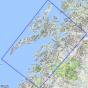 Kartenabdeckung fürt Lofoten 1:250 000 m/hefte karte