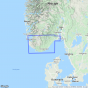 Kartenabdeckung fürt The South Coast  / Sørlandet 1:250 000 karte